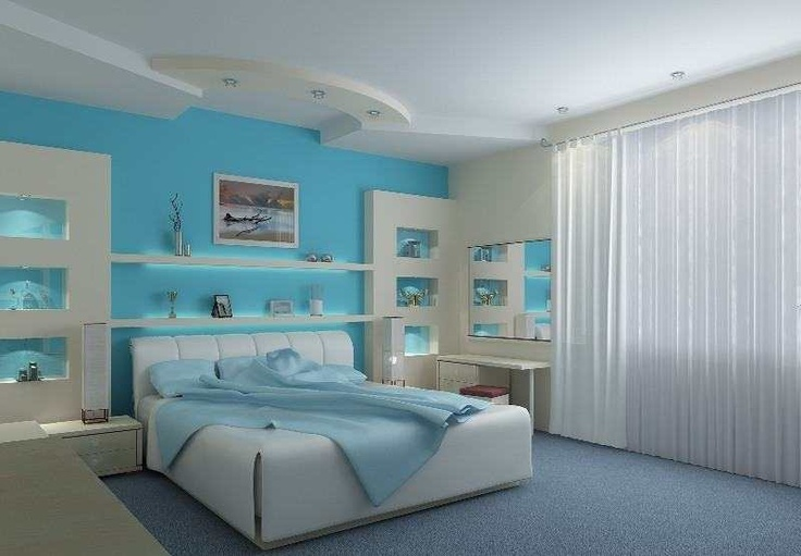 You can combine the blue bedroom ideas with other colors are natural colors like green or white.