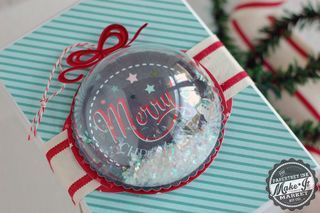 Merry Ornament Package Topper by Betsy Veldman for Papertrey Ink (September 2014)