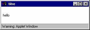 Les conteneurs java sont des objets graphiques qui peuvent contenir d'autres objets graphiques, incluant éventuellement des conteneurs. Ils héritent de la classe Container. Un composant graphique doit toujours être incorporer dans un conteneur :