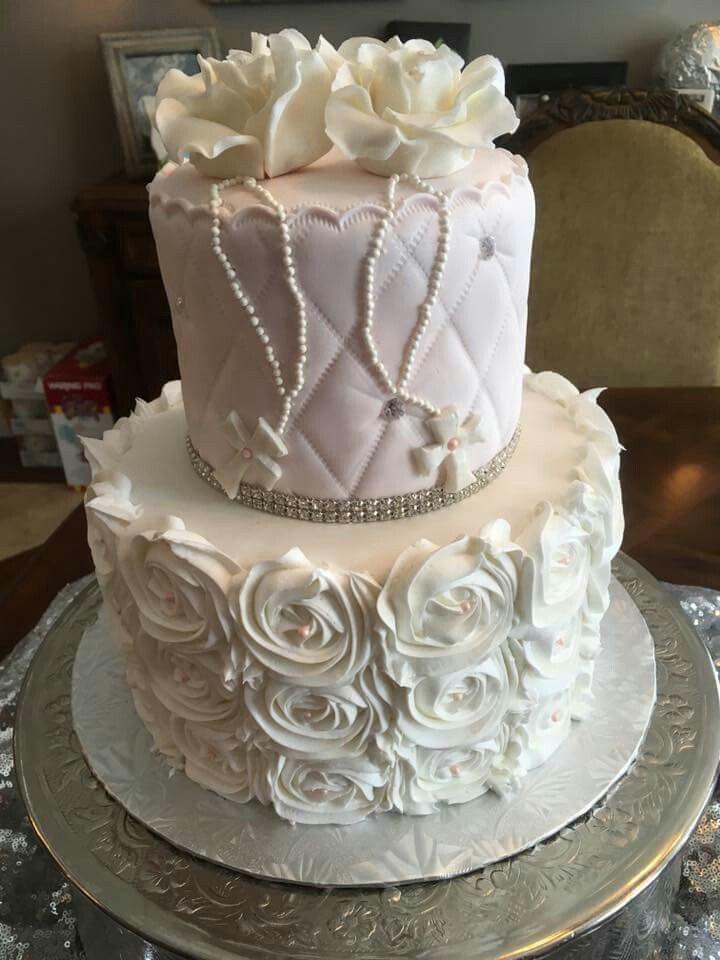 Gâteau de baptême pour jumelles