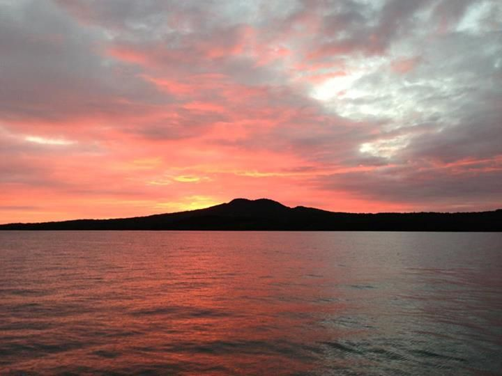 Sunset in Rangitoto, New Zealand