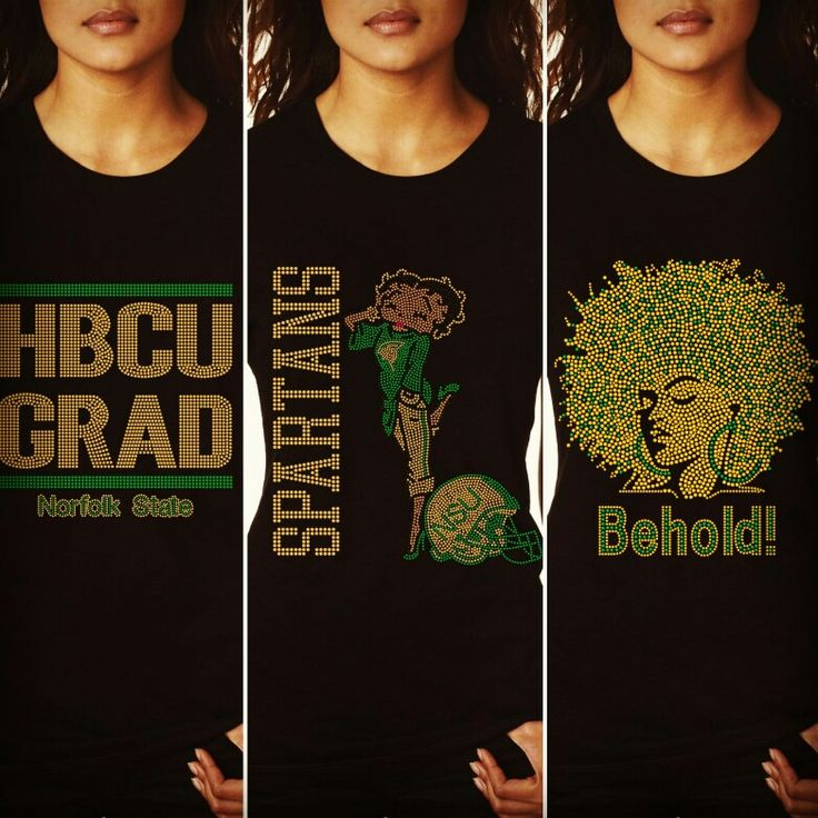 Norfolk State University  Bling t-shirts