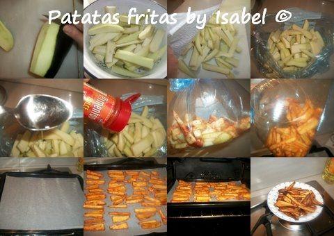 """""""Patatas fritas"""" de berenjena al horno de Isabel"""
