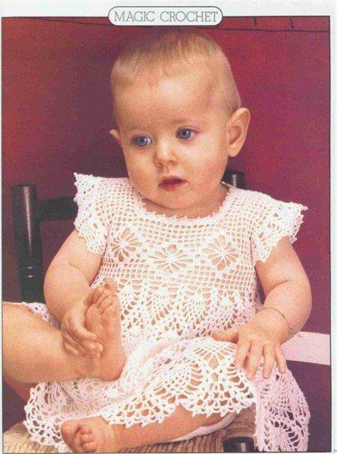 Crochet dress for a little princess