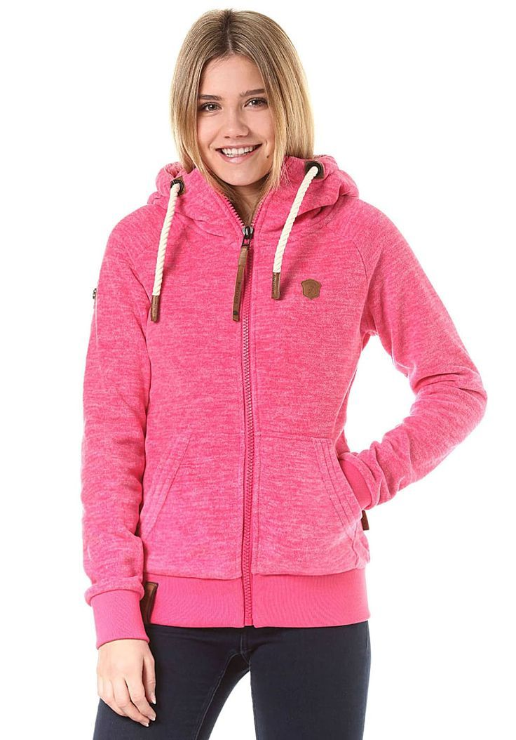NAKETANO Gigi Meroni Fleecejacke für Damen Pink