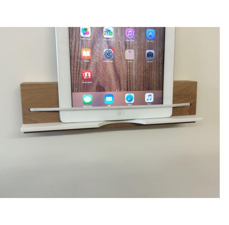 Tablet_Wandhalterung aus Holz