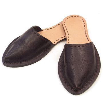 Leather Slippers by Alfred Stadler