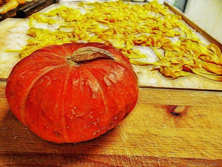Tagliolini with pumpkin by Giancarlo Gallo
