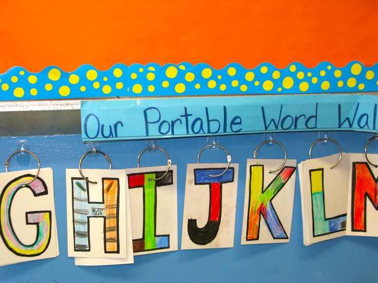 portable word wall- make multiples of each letter so more than one kid can use a letter at a time. Great Idea!