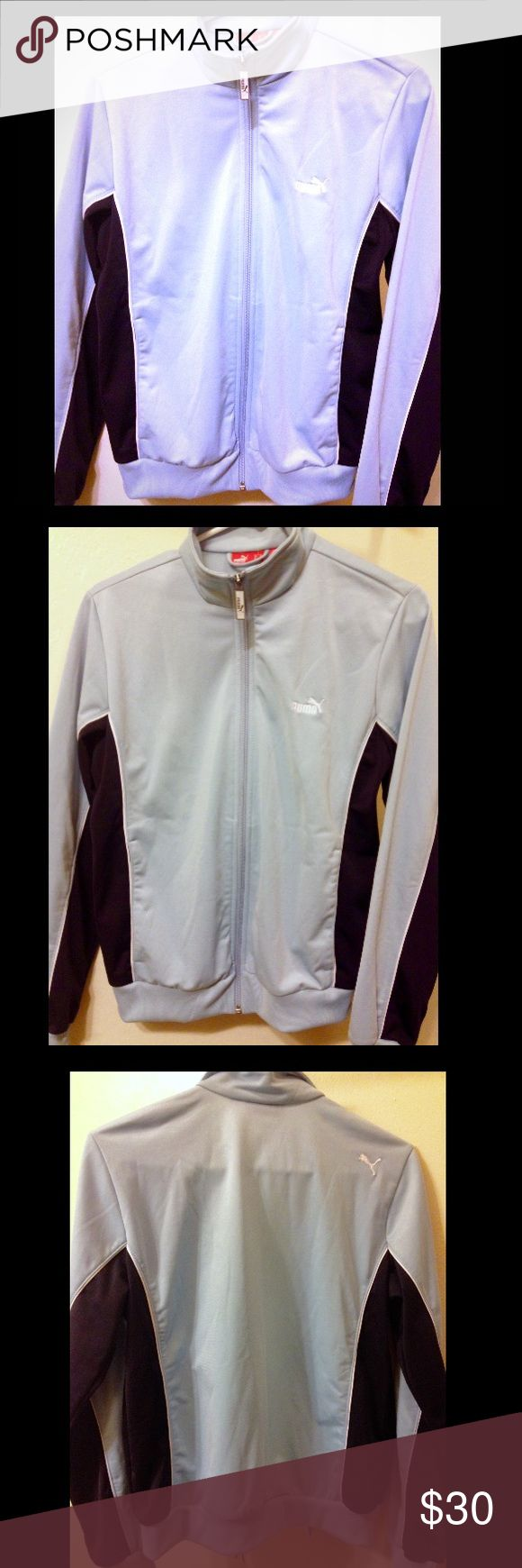 Puma Athletic Jacket, Light Blue/Dark Blue, Size M Puma Women's Athletic Zip Up Jacket Light Blue/Dark Blue, Size M. Front Pockets. Perfect Condition. Awesome Jacket! Puma Jackets & Coats