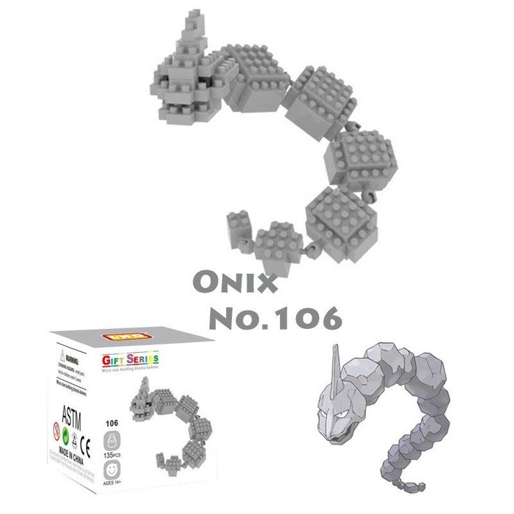 Pocket Pokemon Onix Figures from Building Blocks