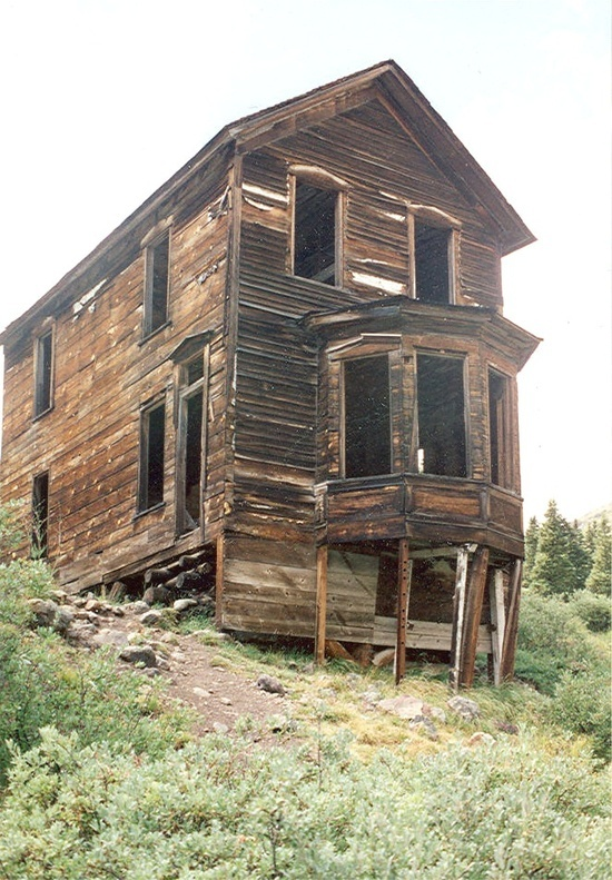 One of the most famous buildings and pictures in Colorado is of the bay window house in Animas Forks.
