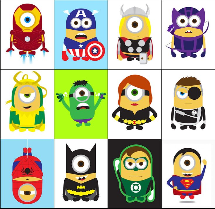"Minions from ""Despicable Me"" as Superheroes."