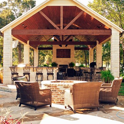 Add a half bath Traditional Home gazebo Design Ideas, Pictures, Remodel and Decor