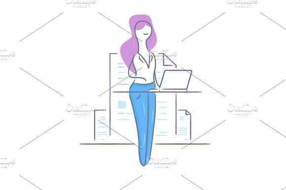 Workplace Girl by Artur Stotch on @creativemarket