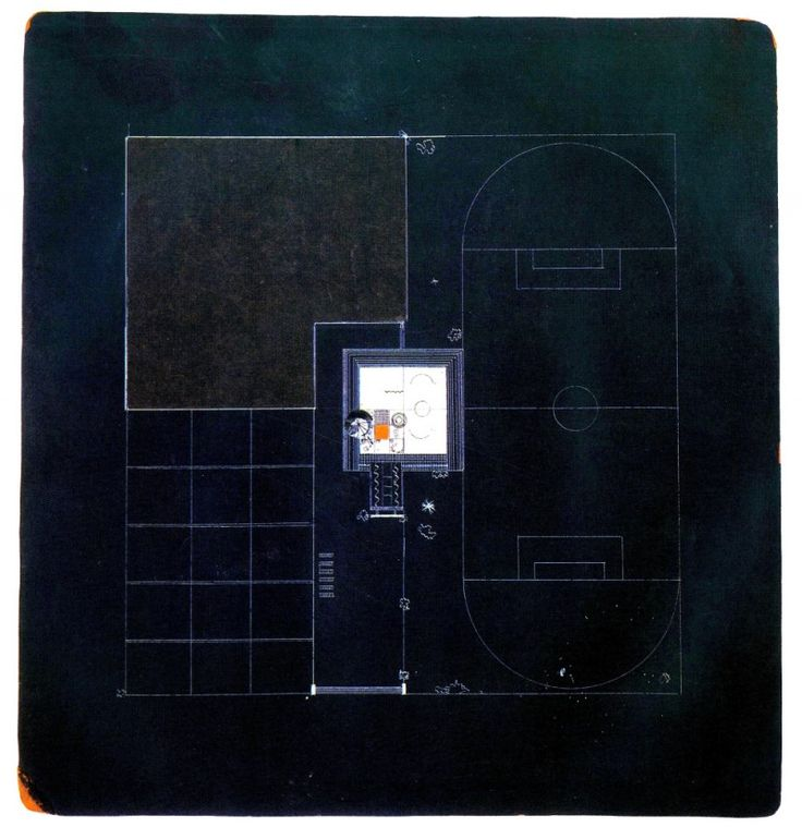SOVIET ABSTRACT ARCHITECTURE BLUEPRINTS (MID-1920S TO EARLY-1930S)