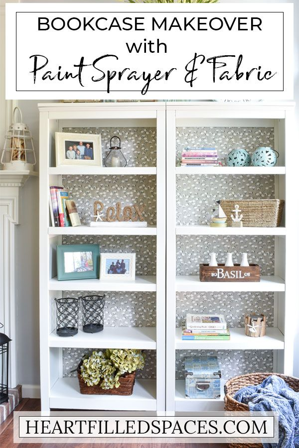 Use A Paint Sprayer To Update Your Old Bookcases Bookshelf