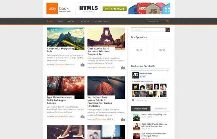 """Playbook"" is a #free traditional #WordPress theme with a fully responsive #design."