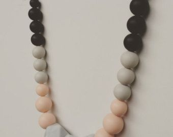 Free shipping - Cusco /Silicone Necklace/Modern/Silicone Beads/Mom/Mothers Day/Baby Shower/Gift/Nursing/Necklaces/Stylish/TuggaLuxe