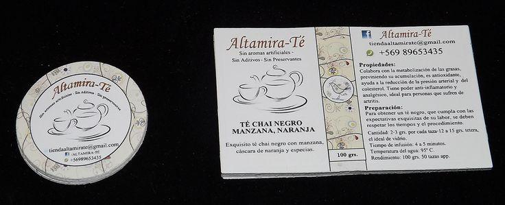 Stickers solicitados por Altamira-Té. Diseños e Impresiones Peña #dimpena #valparaiso #chile