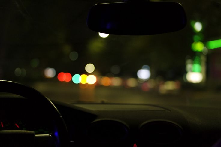 Car Driving At Night looking out windows by DuttaartShop on Etsy