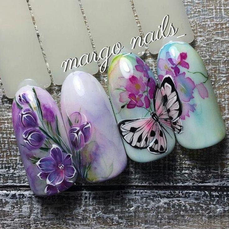 784 отметок «Нравится», 5 комментариев — Идеи МаникюраНогтиNailart (@slider_likes) в Instagram: «@margo_nails_ - Ручная роспись гель лаком #manicure #nailart #nails #venzel #дизайнногтей…»