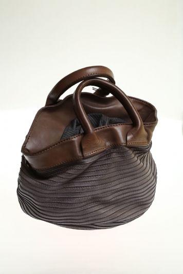 Women Medium bag Grey Soft leather MAJO