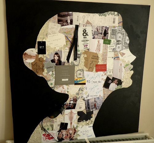 collage - this would be fun to do for each family member with things that represent them.