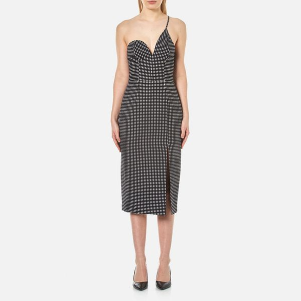 C/MEO COLLECTIVE Women's No Competition One Strap Dress - Black Dot