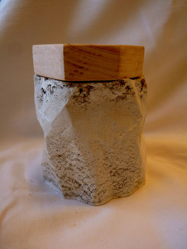 Concrete with wooden top