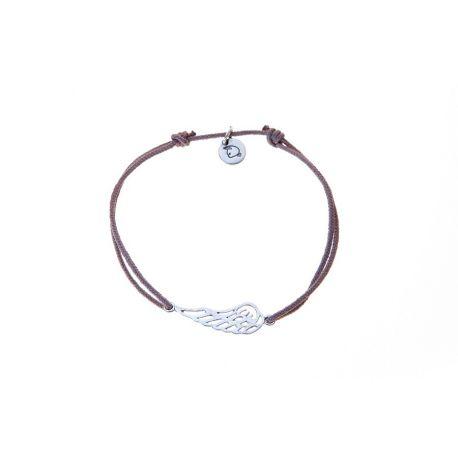Bracelet cordon aile d'ange argent - L'Atelier d'Amaya
