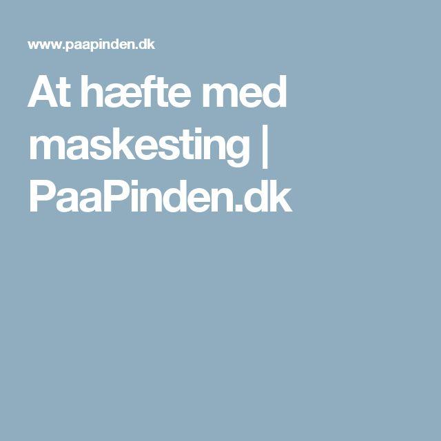 At hæfte med maskesting | PaaPinden.dk