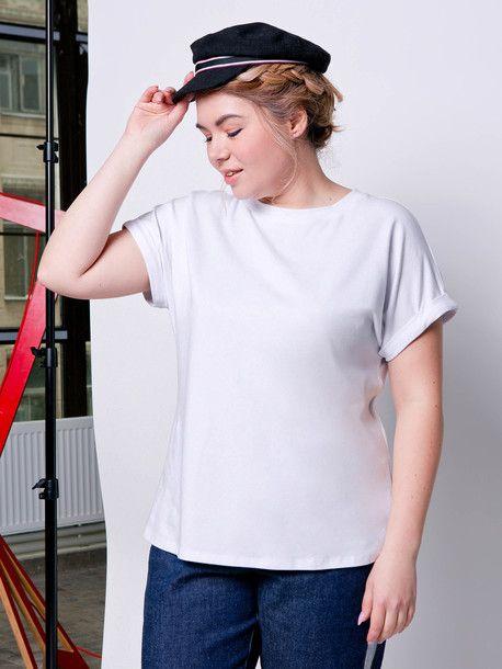 Базовая хлопковая футболка простого кроя. Размеры 52-60