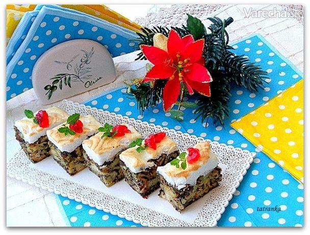Makovo-pudingové koláčiky z rožkov so zapečeným snehom (fotorecept) - Recept