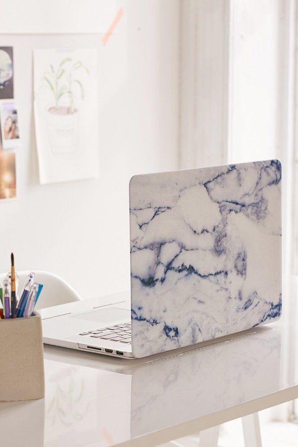 """White Marble 15"""" Laptop Cover"""