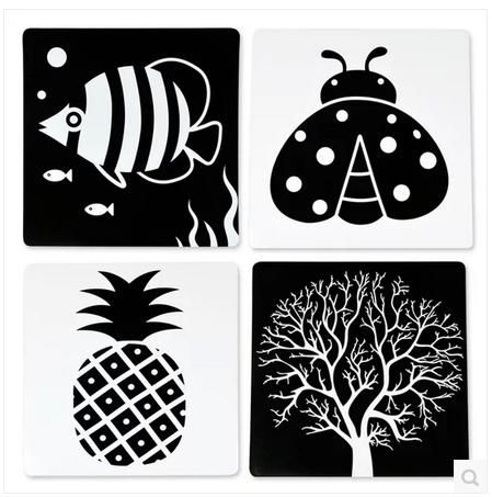Baby early learning cards black and white card flash cards newborn