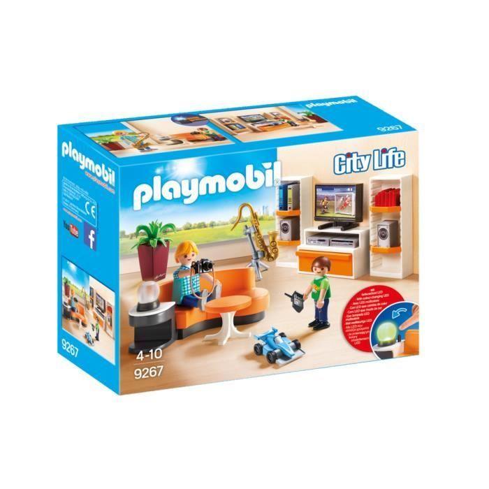 PLAYMOBIL 9 - City Life - La Maison Moderne - Salon Équipé