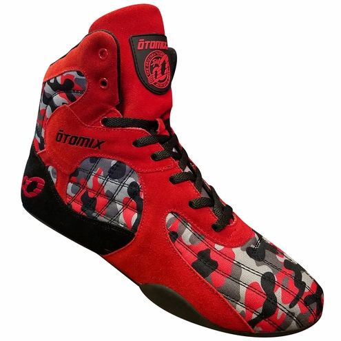 75f2280bdfe4e Otomix Red Camouflage Stingray Bodybuilding Fitness Gym Shoes. Great for Leg  Days!