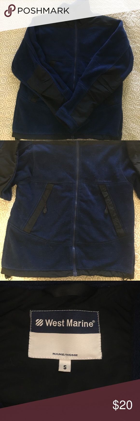 Men's West Marine Fleece Nice thick fleece by West Marine. Older style but excellent condition. Cinch-able bottom and rip-stop elbow and shoulder patches. West Marine Jackets & Coats Performance Jackets