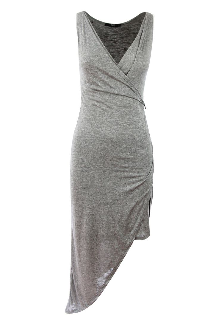 Fate - Emmie Dress In Grey Marle