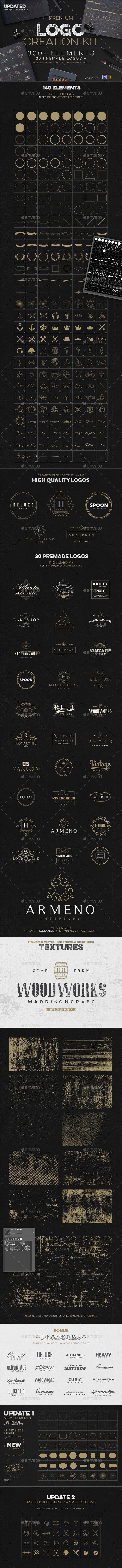 Logo Creation Kit + Bonus. Vector EPS, AI and PSD #design Download: http://graphicriver.net/item/logo-creation-kit-bonus/14461253?ref=ksioks