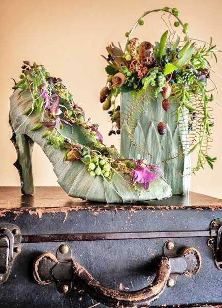 Schoen met bloemen