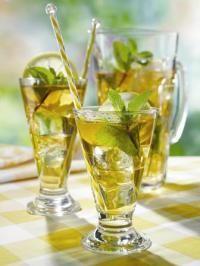 5 Herbal Iced Tea Recipes:   • Peach Pick-Me-Up   • Hip Apple Rose Tea   • Black Forest Magic   • Tummy Tamer   • Lavender Lemon Quencher