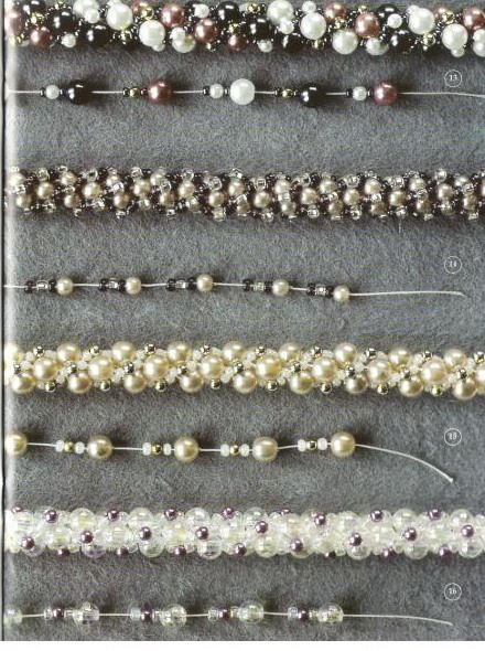 bead crochet patterns using gemstone chips and various sizes of seed beads