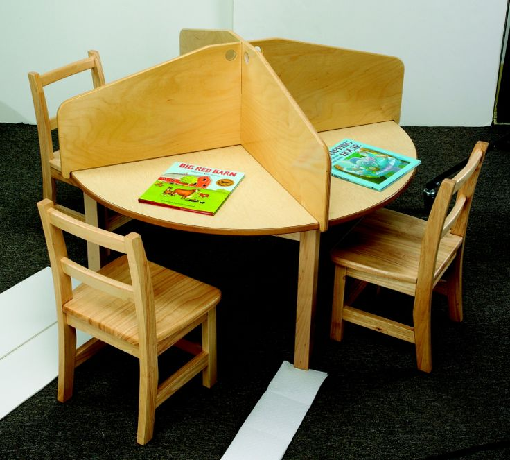 $100 very cool table divider.  This would be a neat setup for a silent work corner (independent work only)