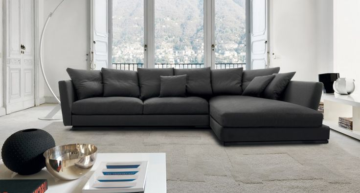 LOV ELEGANCE - A seating system consists of sofas, terminals, peninsula and pouff.