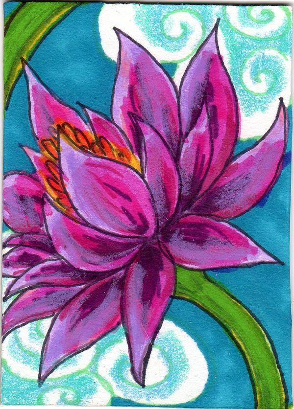 Image gallery lotus flower art ks2 for Art flowers