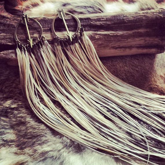 Bohemian Soul feather earrings by RootsofLifeDesigns on Etsy, $130.00