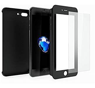 82b3a7a5baa Mobilyos Funda iPhone 8 Plus 360 Grados Completa Carcasa Integral y Cristal  de Vidrio Templado para