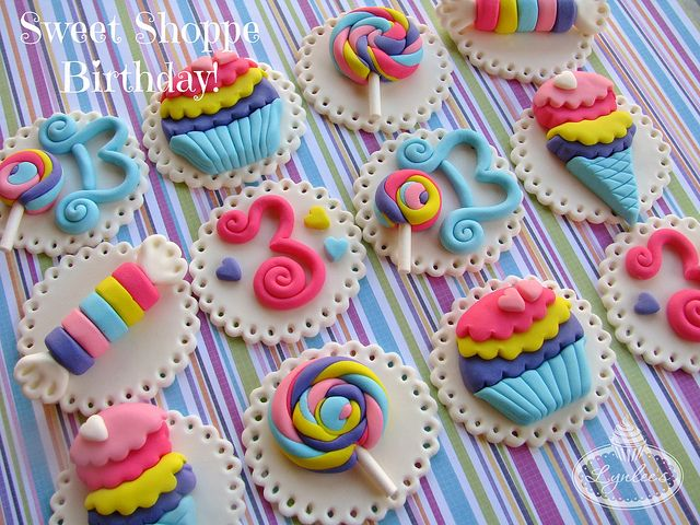 Sweet Shoppe Cupcake Toppers by Lynlee's Petite Cakes, via Flickr